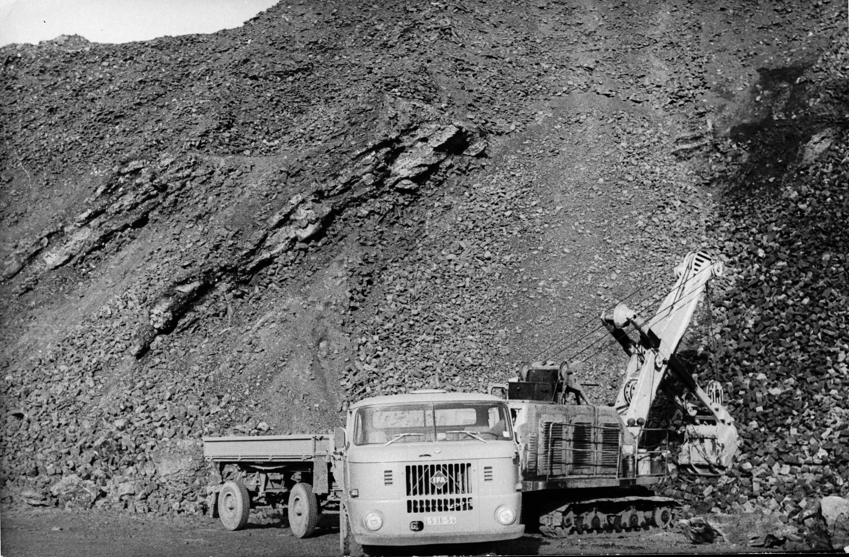 1960er Jahre Bauarbeiten am Stausee