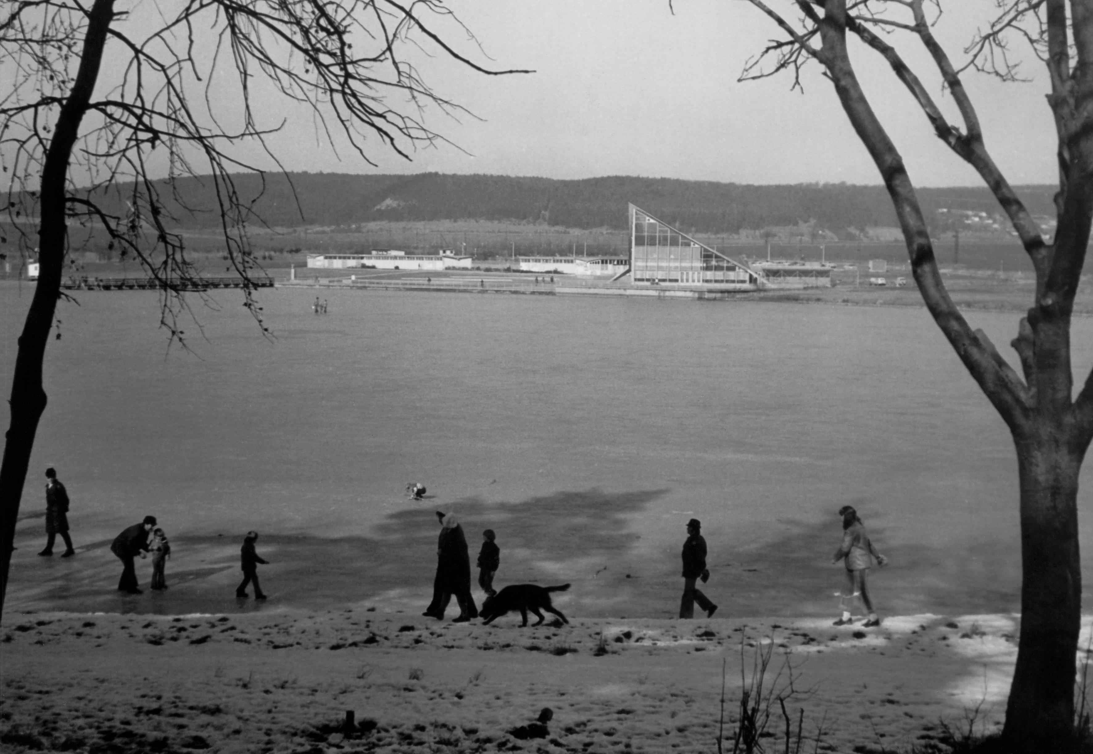 1970er Jahre Blick aufs Nordufer mit Restaurant Seeblick